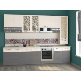 Кухонный гарнитур Графит 36 (ширина 300 см)