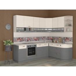 Кухонный гарнитур угловой Графит 38 (ширина 240х162 см)