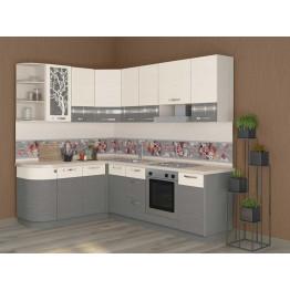 Кухонный гарнитур угловой Графит 39 (ширина 162х240 см)