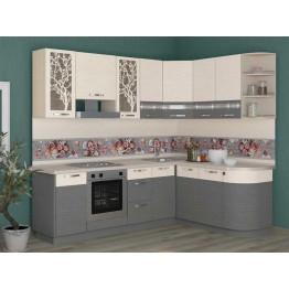 Кухонный гарнитур угловой Графит 40 (ширина 240х172 см)