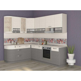 Кухонный гарнитур угловой Графит 41 (ширина 172х240 см)