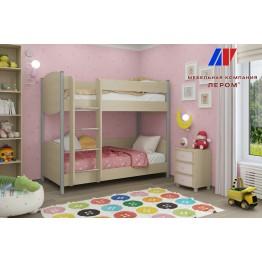 Детская Валерия 8 БД-Р цвет Дуб беленый с розовыми вставками (БД-Р)