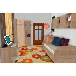 Дизайн проект 1 детской Ксюша для комнаты 10 кв.м.