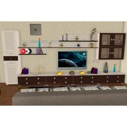 Гостиная Лером Патриция ПР1 цвет Дуб Беленый - комбинированный (БД-К)
