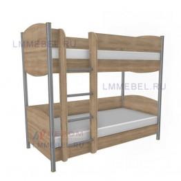 КР-123 кровать 2-х ярусная (0,9х1,9) Дуб Сонома