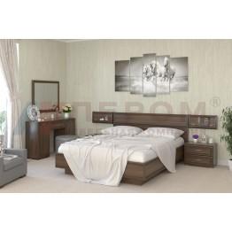 Спальня Карина 9 Лером цвет Акация Молдау (АТ)