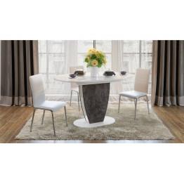 Стол обеденный «Монреаль» Тип 1 (Белый глянец/мод темный)