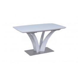 Стол обеденный раскладной ORCHIDEA (1400-1800х850х760) белый сатинированное стекло