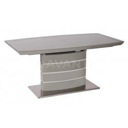 Стол обеденный раскладной GALAXY (1600-2200x900x760) серый (со стеклом)