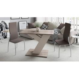 Стол обеденный раздвижной «Чинзано» Тип 1 (Моод темный/стекло белое матовое)