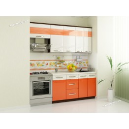 Кухонный гарнитур Оранж 7 (ширина 200 см)
