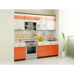 Кухонный гарнитур Оранж 8 (ширина 230 см)