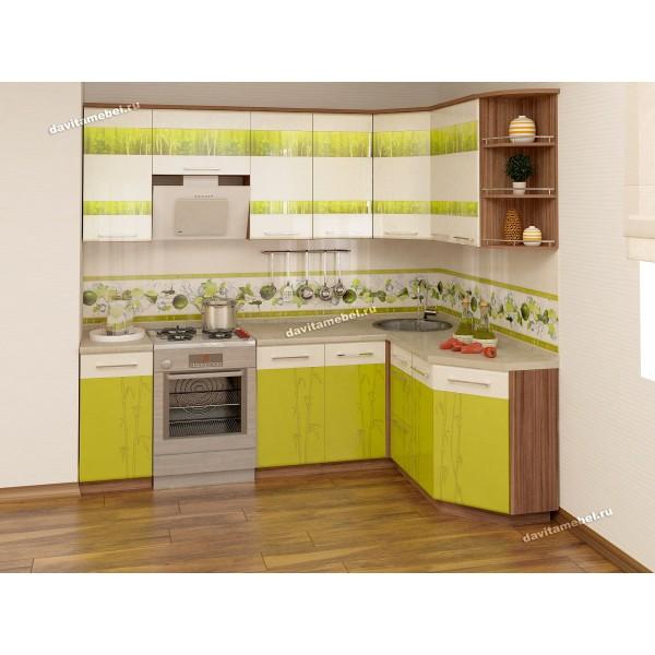 Кухонный гарнитур угловой Тропикана 16 (ширина 240х160 см)