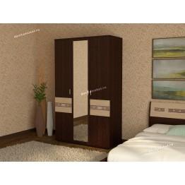 Шкаф трехдверный с зеркалом Ривьера 95.12
