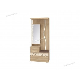 Панель с крючками комбинированная с зеркалом Ассоль 46.08