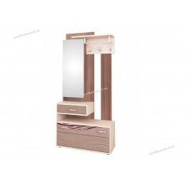 Панель с крючками комбинированная с зеркалом Лаура 38.06.1