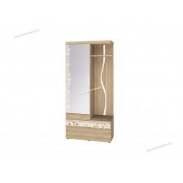 Панель с крючками комбинированная с зеркалом (лев/прав) Ассоль 46.07