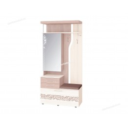 Панель с крючками комбинированная с зеркалом Мэри 39.08