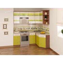 Кухонный гарнитур угловой Тропикана 14 (ширина 200х150 см)