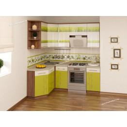 Кухонный гарнитур угловой Тропикана 15 (ширина 150х200 см)