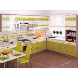 Кухонный гарнитур угловой Тропикана 18 (ширина 380x250 см)